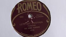 The Home Towners - 78rpm single 10-inch – Romeo #932 Let's Get Together