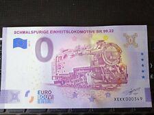 BILLET EURO SOUVENIR ALLEMAGNE 2021-2 SCHMALSPURIGE EINHEITSLOKOMOTIVE BR 99.22