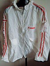 CANON Vintage Horizon Sportswear Inc Nylon Zippered Hoodie White/Red Jacket XL
