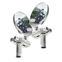 Oxford BarEnd Motorcycle Motorbike Mirrors - Silver Set  OX578