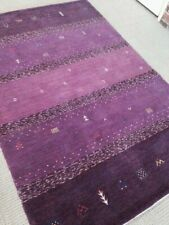 Modern Spectacular Hand Made Area Rug Purple 6' x9'  New Carpet Gabbeh Nomadic