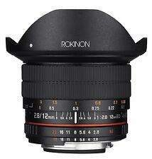 Rokinon 12mm F2.8 Ultra Wide Fisheye Full Frame Lens for Nikon AE DSLR Cameras