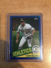 Topps 2020 Mark Mcgwire Silver Pack Blue 001/150