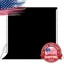 5x10 ft. Black Photography Backdrop For Photo Studio Shooting Video Usa Seller