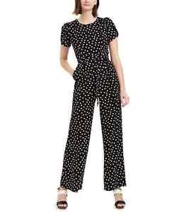 Calvin Klein Polka Dot Tulip Sleeve Jumpsuit $139 Size 6 # 14A 1022 N