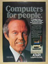 1981 Atari 800 Computer Astronaut Gordon Cooper photo vintage print Ad