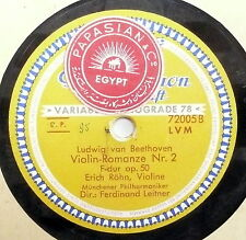 "78 rpm 12"" record N-  GERMAN Issue ERICH ROHN / BEETHOVEN ROMANCE 1 & 2"