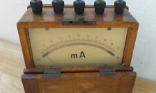 AMMETER  1920s in wooden box