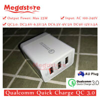 Qualcomm Quick Charge QC 3.0 25W AU Universal Super Fast 3 USB Wall Charger