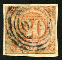 THURN AND TAXIS #52 German States Stamps Postage USED