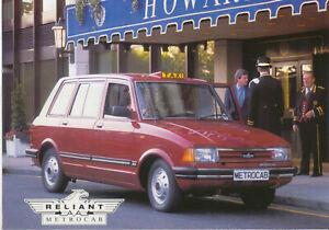 Reliant Metrocab Single Sheet Brochure Not dated