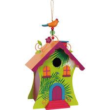 Casa para Pajaros de Madera Pintada, para el Jardin. Casas para pajaros balcon.