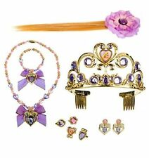 Disney Store Rapunzel Tangled Costume Tiara crown Hair Clip set necklace NWT