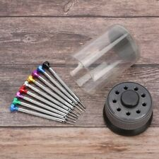 9 Pcs Precision Screwdriver Set Watch Flat Blade Slotted Watchmakers Repair Tool
