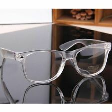 Crystal Clear Frame Eyeglasses Square Eye Spectacle Clear Lens Fake Glasses