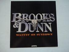 Brooks & Dunn Waitin On Sundown 1994 LP Record Photo Flat 12x12 Poster