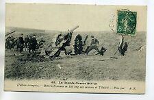 MILITARIA 901 Thann env Batterie FRancaise 120 long piece feu Grande Guerre 1914