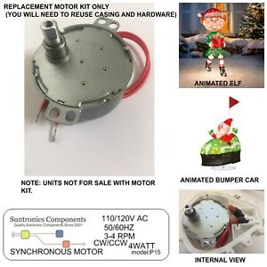 Animated outdoor xmas Bumper Cars &  Elf replacement parts motor no casing.