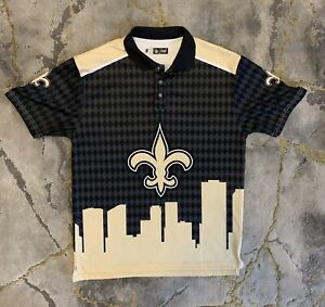 Forever Collectibles New Orleans Saints Thematic Polo Shirt NFL Mens Large