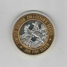 Lake of Torches Wisconsin  Horses GDC .999 Fine Silver $10 Casino Gaming Token