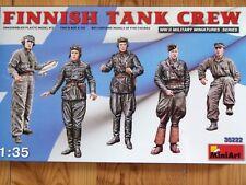 Miniart 1:35 Finnish tank crew WWII Figures Model Kit