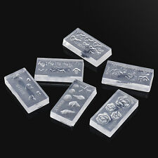 6pcs Durable 3D Acrylic Mold for Nail Art DIY Decoration Design Silicone New