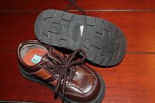 Toddler boy size 6.5 Carters brown dress shoes holiday church NEW