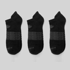3-Pack Bombas Comfort ~ NO SHOW ~ Cushioned Socks Size M / L NWT Black unisex