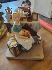 """Norman Rockwell """"Dreams In The Antique Shop"""" 1984 Figurine"""