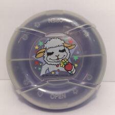 Vintage 1993 LambChop Sectioned Snack Bowl w/ Lid Pecoware Shari Lewis Lamb Chop