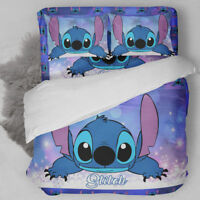 3D Disney Stitch Kids Bedding Set Comforter /Quilt Cover Duvet Cover Pillowcase