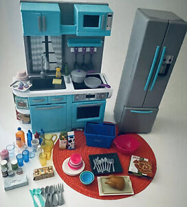 """My Life As Kitchen Play Set for 18"""" Dolls Like American Girl & Accessories"""