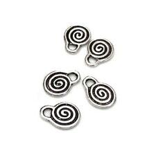 5 perles disque NACRE 35x3,5mm motif SPIRALE MULTICOLORE ARC EN CIEL