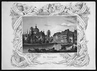 1845 Nonnengraben Bamberg Fluss river Bayern gravure Stahlstich engraving