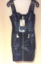 MOSCHINO H&M H&MOSCHINO Kleid Leder Dress Leather EUR Größe 34 Size US 2 UK 6