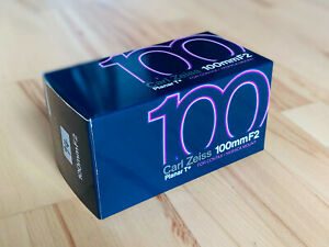 Carl Zeiss Contax Planar T* 100mm f/2 Verpackung Box OVP // Neuwertig
