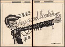 "HEY GOOD LOOKIN'__Orig. ""1975"" Trade AD Warner promo_poster__RALPH BAKSHI__1982"