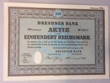 Dresdner Bank, Aktie, 100 RM-9/1952