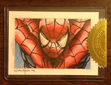 Spiderman Spider-Man Archives color sketch card 1/1 case incentive John Haun