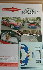 Decals 1/24 réf 1000b Citroën Xsara Wrc Loeb JUSTE MARRIED