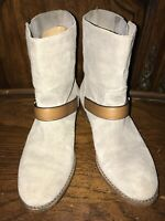COACH AMY Taupe Suede Leather Short Women's Boots Size 5B