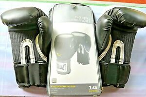 Everlast Pro Style Black Training Boxing Sparring Fighting Gloves 14 ounce ~ New