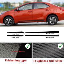 4xCarbon Fiber Car Side Door Edge Guard Protection Strip For ToyotaCorolla 14-17