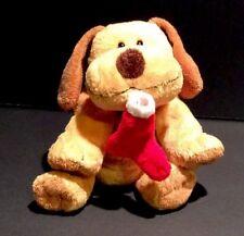 Christmas Plush Ty Pluffies Goodies Dog W/Stocking 2004 Beanie
