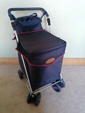 Many blue sholley trolly 2000 walking aid shopping cart 4 wheels plus bag