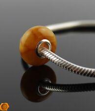 Antique Vintage Baltic Amber Charms Silver Charm Pandora Bracelet Trollbeads