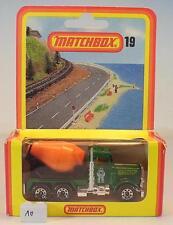 Matchbox Superfast Nr. 19 Peterbilt Cement Truck Nr. 2 Deutsche Hösbach OVP #010