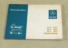 Betriebsanleitung Mercedes Benz T1 Transporter 207, 307, 407 D , 209, 309, 409 D