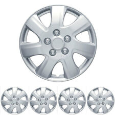 "Silver Hubcaps OEM Snap-On Replacement Wheel Rim Covers for 16"" Rims (4 Pack)"