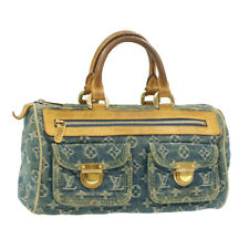 LOUIS VUITTON Monogram Denim Neo Speedy Hand Bag Blue M95019 LV Auth mt108